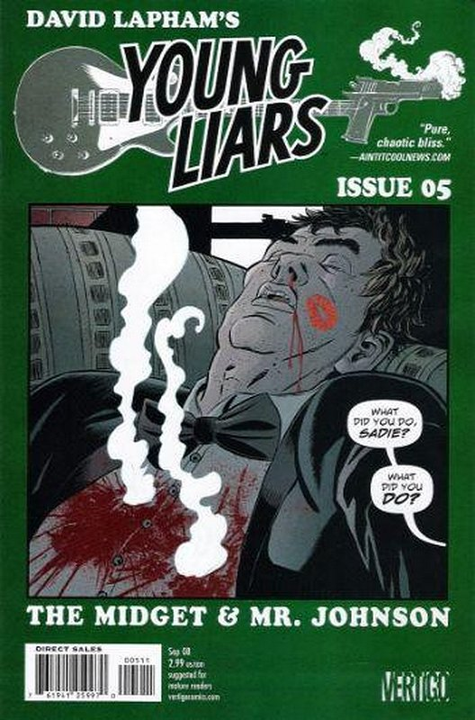 Cover of Young Liars (Vol 1) #5. One of 250,000 Vintage American Comics on sale from Krypton!