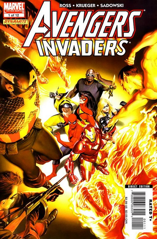 Cover of Avengers/Invaders (2008 Ltd) #1. One of 250,000 Vintage American Comics on sale from Krypton!