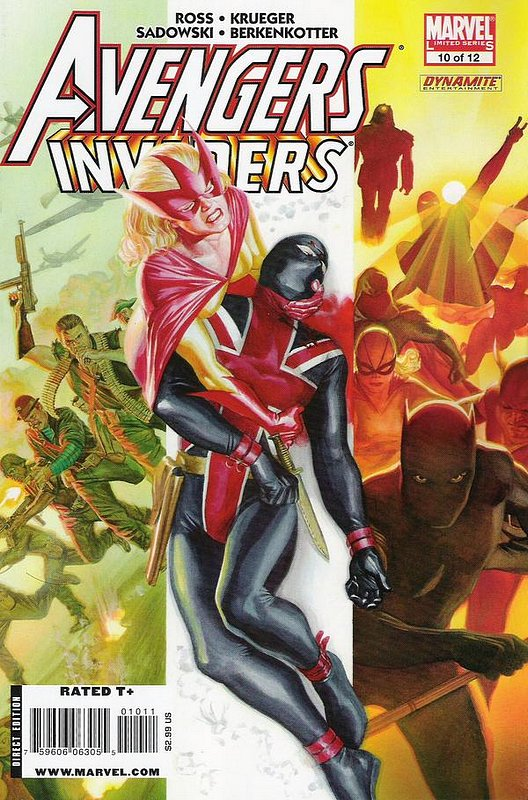 Cover of Avengers/Invaders (2008 Ltd) #10. One of 250,000 Vintage American Comics on sale from Krypton!