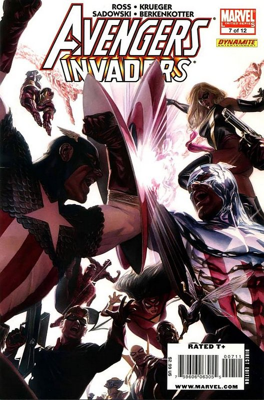 Cover of Avengers/Invaders (2008 Ltd) #7. One of 250,000 Vintage American Comics on sale from Krypton!