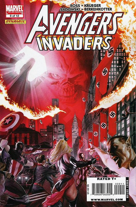 Cover of Avengers/Invaders (2008 Ltd) #9. One of 250,000 Vintage American Comics on sale from Krypton!