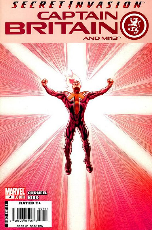 Cover of Captain Britain & MI: 13 #4. One of 250,000 Vintage American Comics on sale from Krypton!