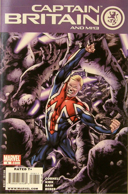 Cover of Captain Britain & MI: 13 #8. One of 250,000 Vintage American Comics on sale from Krypton!