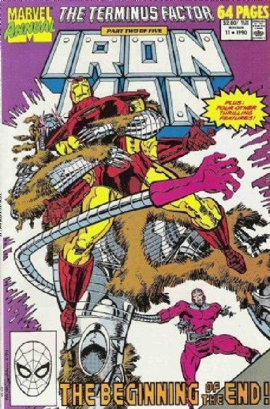Cover of Iron Man Annual #11. One of 250,000 Vintage American Comics on sale from Krypton!