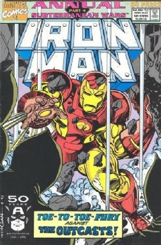 Cover of Iron Man Annual #12. One of 250,000 Vintage American Comics on sale from Krypton!