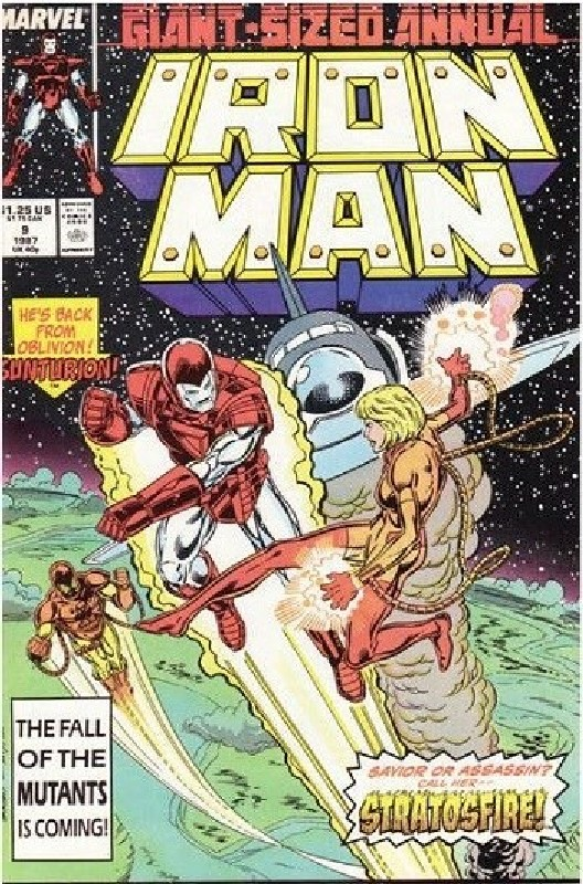 Cover of Iron Man Annual #9. One of 250,000 Vintage American Comics on sale from Krypton!