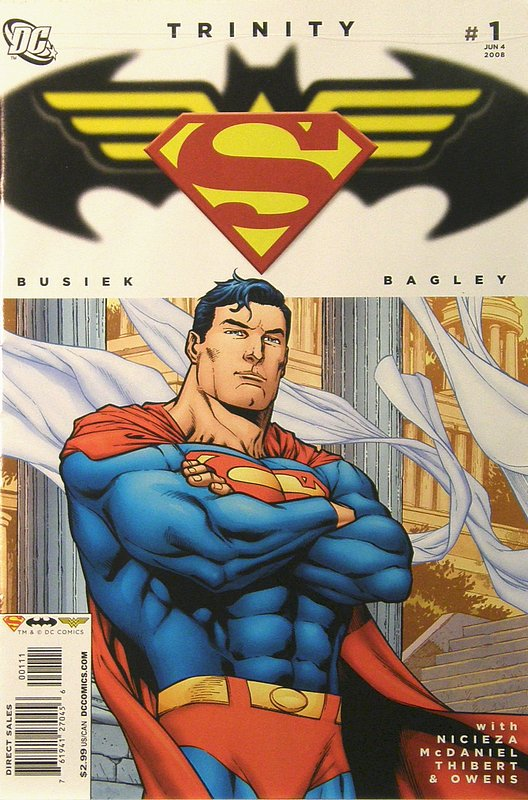 Cover of Trinity (2008) #1. One of 250,000 Vintage American Comics on sale from Krypton!