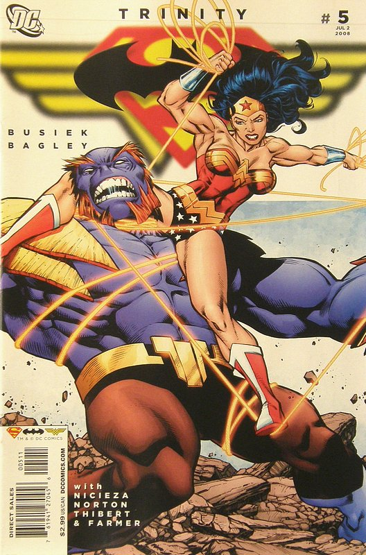 Cover of Trinity (2008) #5. One of 250,000 Vintage American Comics on sale from Krypton!