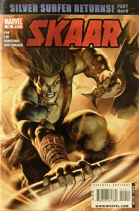 Cover of Skarr: Son of Hulk (Vol 1) #10. One of 250,000 Vintage American Comics on sale from Krypton!