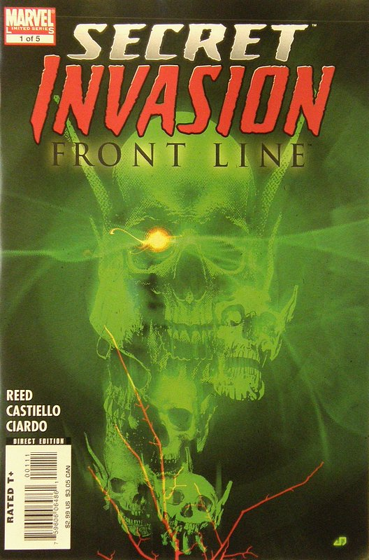 Cover of Secret Invasion: Frontline (2008 ltd) #1. One of 250,000 Vintage American Comics on sale from Krypton!