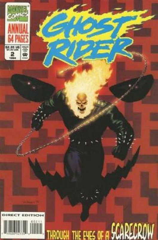 Cover of Ghost Rider Annual (Vol 2) #2. One of 250,000 Vintage American Comics on sale from Krypton!