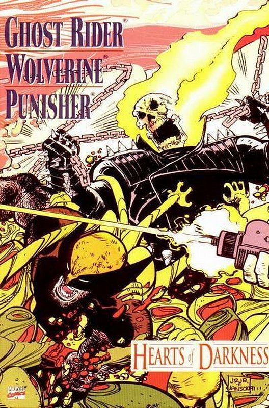 Cover of Ghost Rider/Wolverine/Punisher: Hearts of Darkness #1. One of 250,000 Vintage American Comics on sale from Krypton!