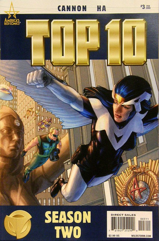 Cover of Top Ten Season Two #3. One of 250,000 Vintage American Comics on sale from Krypton!