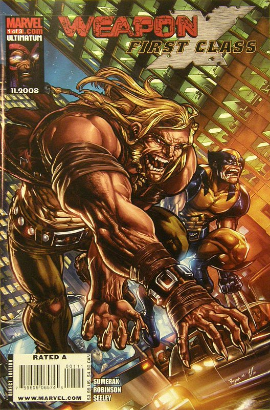 Cover of Weapon X: First Class (2008 Ltd) #1. One of 250,000 Vintage American Comics on sale from Krypton!
