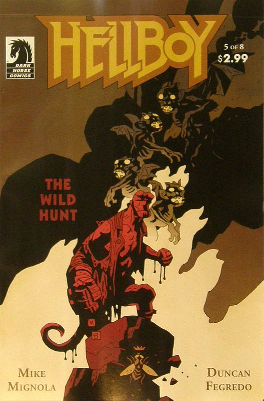 Cover of Hellboy: Wild Hunt #5. One of 250,000 Vintage American Comics on sale from Krypton!