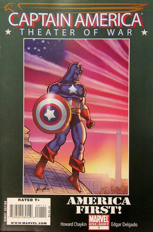 Cover of Captain America: Theater of War-America First #1. One of 250,000 Vintage American Comics on sale from Krypton!