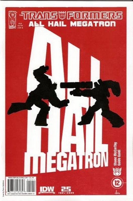 Cover of Transformers: All Hail Megatron #12. One of 250,000 Vintage American Comics on sale from Krypton!