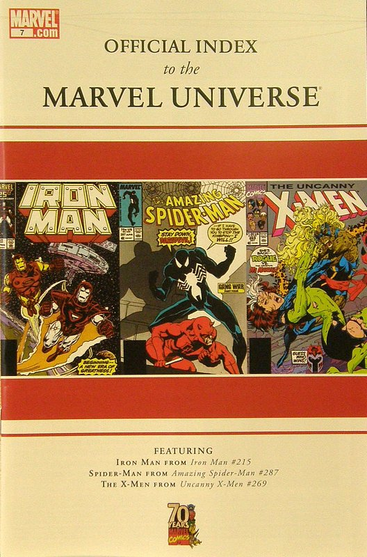 Cover of Official Index to the Marvel Universe #7. One of 250,000 Vintage American Comics on sale from Krypton!