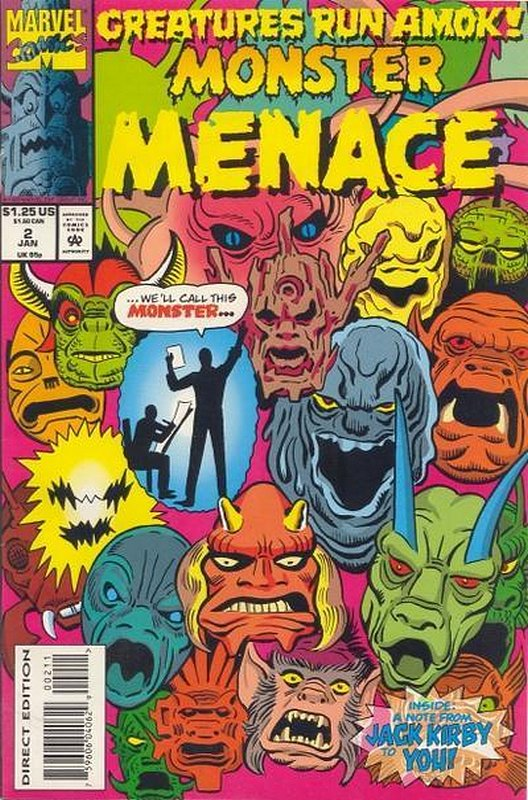 Cover of Monster Menace (1993 Ltd) #2. One of 250,000 Vintage American Comics on sale from Krypton!