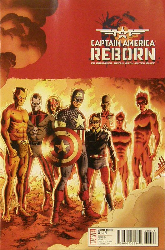 Cover of Captain America: Reborn (2009 Ltd) #3. One of 250,000 Vintage American Comics on sale from Krypton!