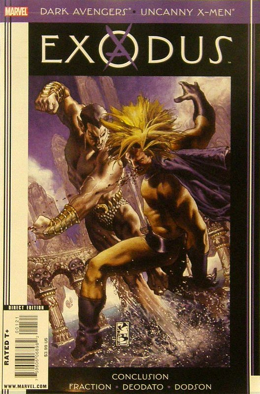 Cover of Dark Avengers/Uncanny X-Men: Exodus #1. One of 250,000 Vintage American Comics on sale from Krypton!