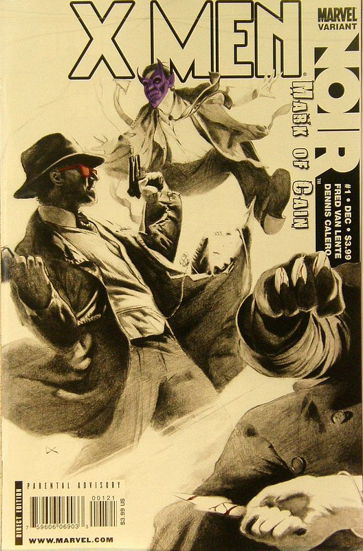 Cover of X-Men: Noir Mark of Cain (2009 Ltd) #1. One of 250,000 Vintage American Comics on sale from Krypton!
