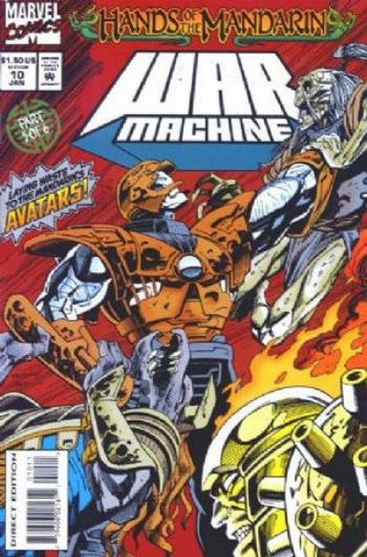 Cover of War Machine (Vol 1) #10. One of 250,000 Vintage American Comics on sale from Krypton!