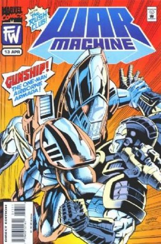 Cover of War Machine (Vol 1) #13. One of 250,000 Vintage American Comics on sale from Krypton!