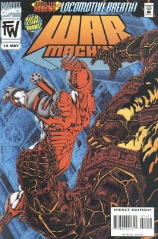 Cover of War Machine (Vol 1) #14. One of 250,000 Vintage American Comics on sale from Krypton!