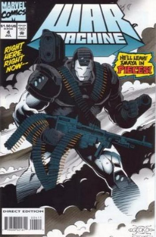 Cover of War Machine (Vol 1) #4. One of 250,000 Vintage American Comics on sale from Krypton!