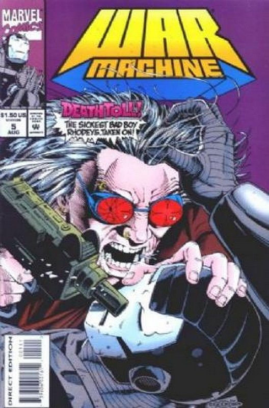 Cover of War Machine (Vol 1) #5. One of 250,000 Vintage American Comics on sale from Krypton!