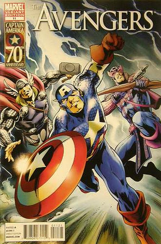 Cover of Avengers (Vol 4) #11. One of 250,000 Vintage American Comics on sale from Krypton!