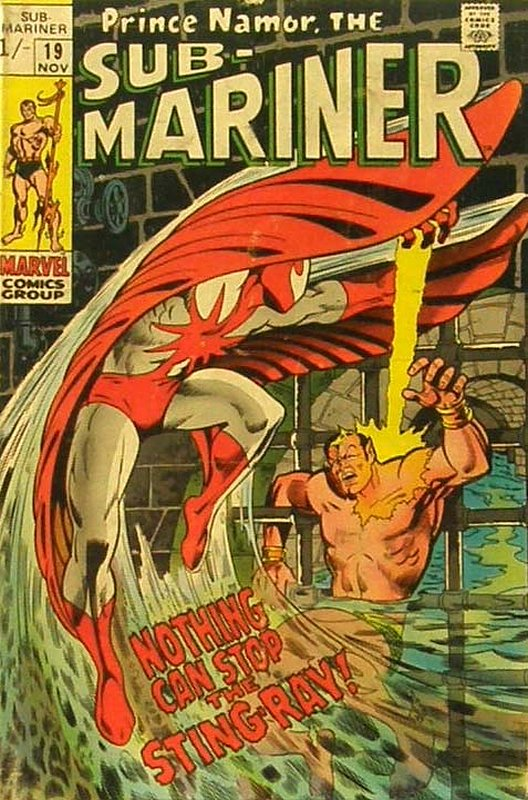 Cover of Sub-Mariner (Vol 1) #19. One of 250,000 Vintage American Comics on sale from Krypton!