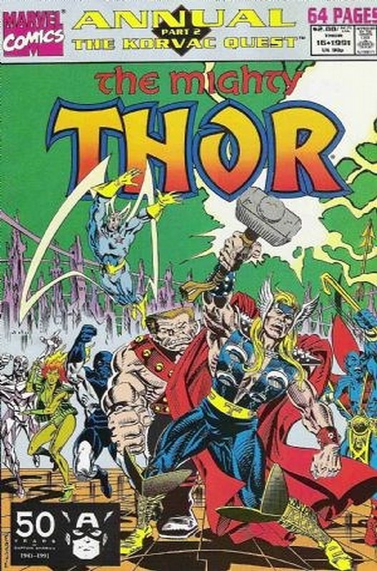 Cover of Thor Annual (Vol 1) #16. One of 250,000 Vintage American Comics on sale from Krypton!