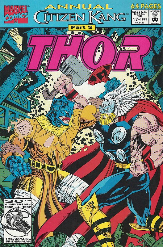 Cover of Thor Annual (Vol 1) #17. One of 250,000 Vintage American Comics on sale from Krypton!