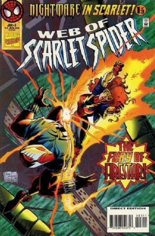 Cover of Web of Scarlet Spider (1995 Ltd) #3. One of 250,000 Vintage American Comics on sale from Krypton!