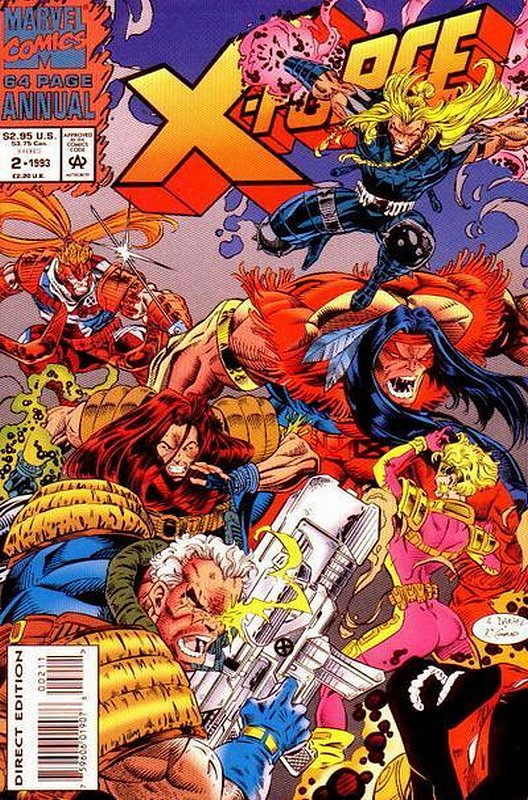 Cover of X-Force (Vol 1) Annual #2. One of 250,000 Vintage American Comics on sale from Krypton!