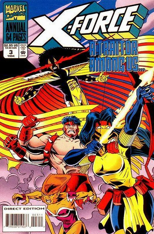 Cover of X-Force (Vol 1) Annual #3. One of 250,000 Vintage American Comics on sale from Krypton!