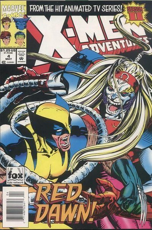 Cover of X-Men Adventures - (Season 2) #4. One of 250,000 Vintage American Comics on sale from Krypton!