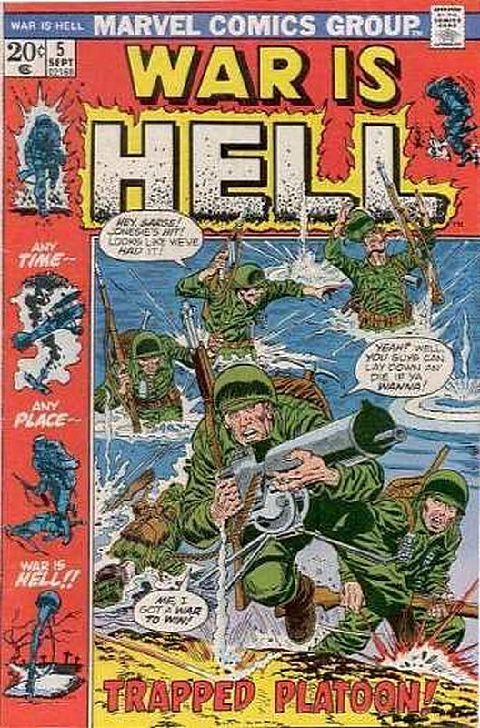 Cover of War is Hell (Vol 1) #5. One of 250,000 Vintage American Comics on sale from Krypton!