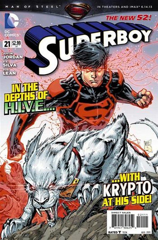 Cover of Superboy (Vol 5) #21. One of 250,000 Vintage American Comics on sale from Krypton!