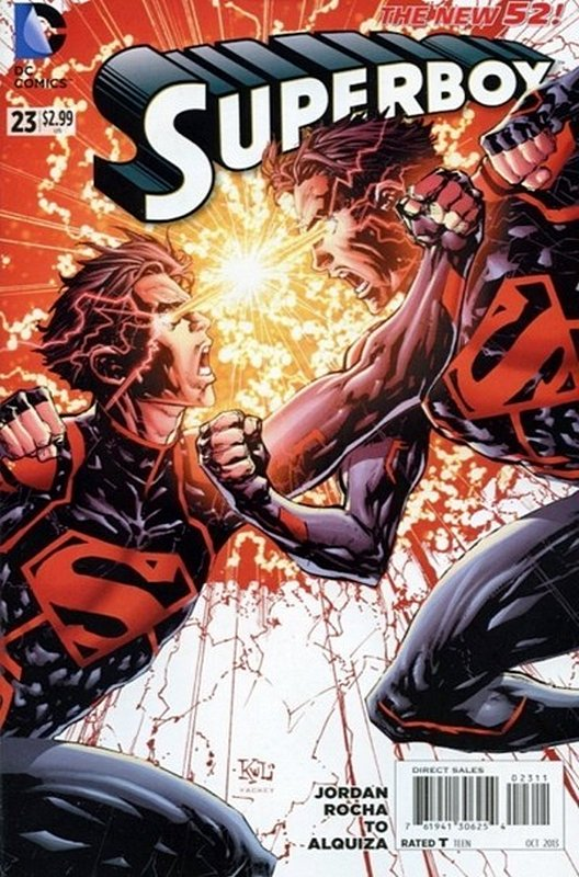 Cover of Superboy (Vol 5) #23. One of 250,000 Vintage American Comics on sale from Krypton!