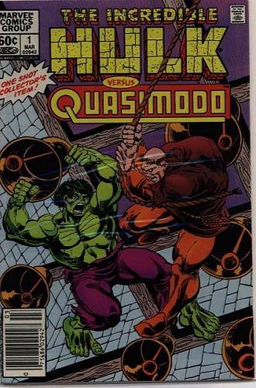 Cover of Incredible Hulk vs Quasimodo (1983 One Shot) #1. One of 250,000 Vintage American Comics on sale from Krypton!