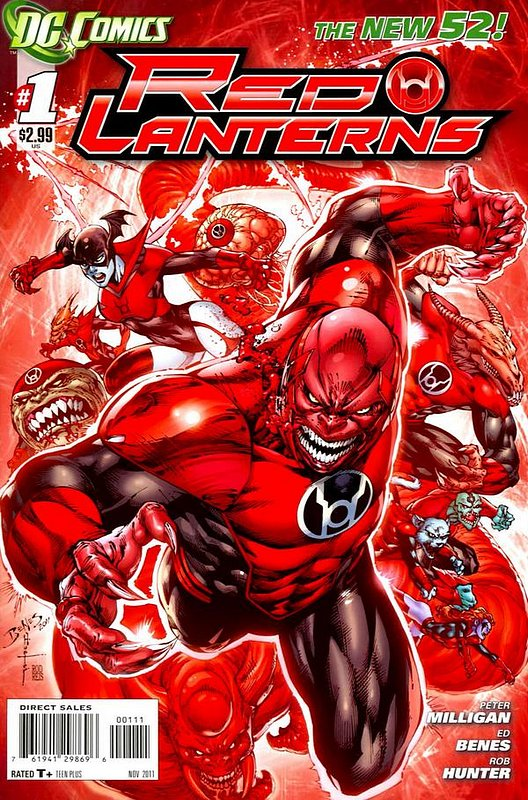 Cover of Red Lanterns (Vol 1) #1. One of 250,000 Vintage American Comics on sale from Krypton!