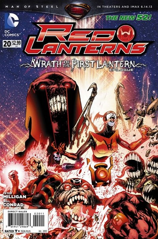 Cover of Red Lanterns (Vol 1) #20. One of 250,000 Vintage American Comics on sale from Krypton!
