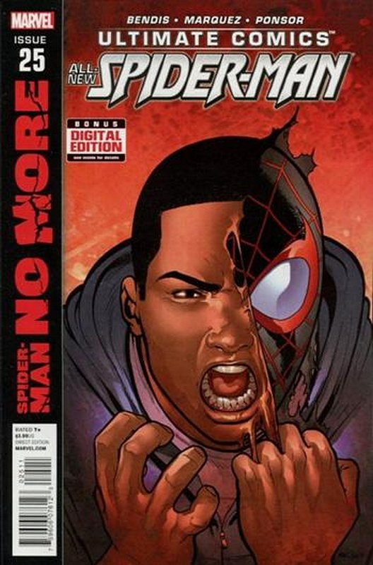 Cover of Ultimate Comics Spider-Man (Vol 2) #25. One of 250,000 Vintage American Comics on sale from Krypton!