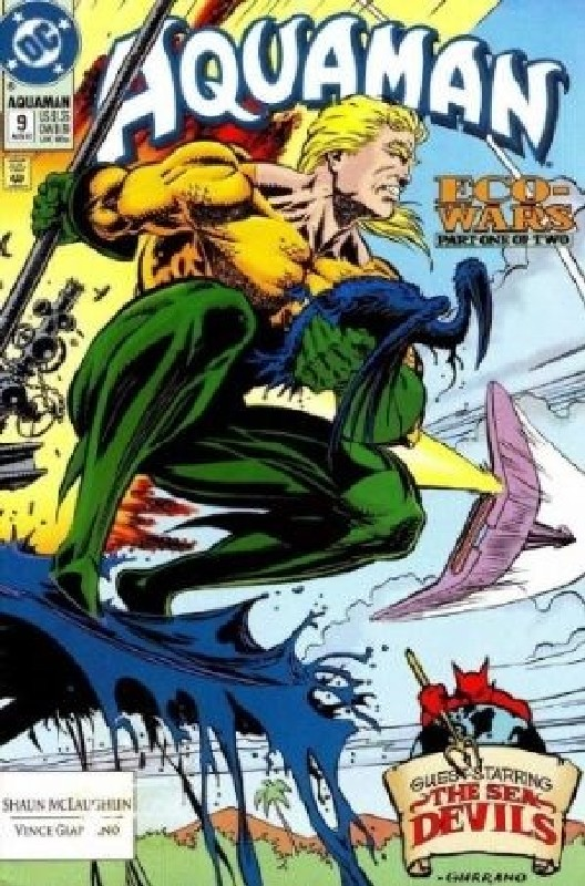 Cover of Aquaman (Vol 2) #9. One of 250,000 Vintage American Comics on sale from Krypton!