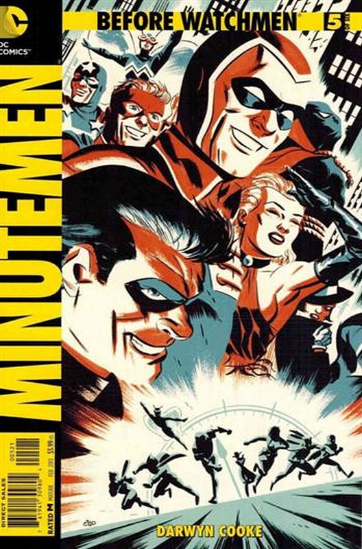 Cover of Before Watchmen: Minutemen (2012 Ltd) #5. One of 250,000 Vintage American Comics on sale from Krypton!