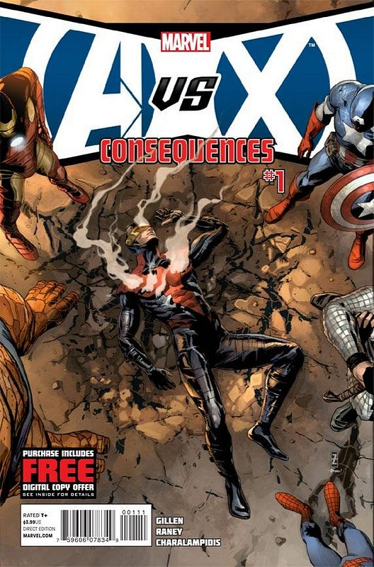 Cover of AVX: Consequences (2012 Ltd) #1. One of 250,000 Vintage American Comics on sale from Krypton!