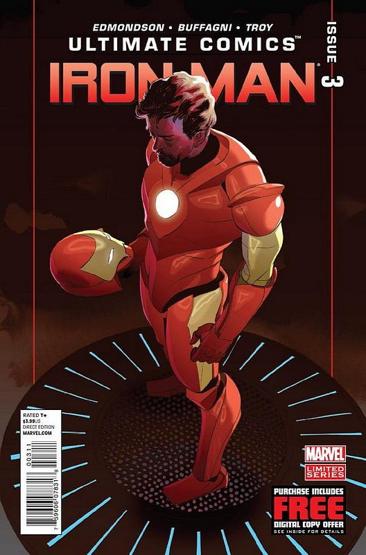 Cover of Ultimate Comics Iron Man (2012 Ltd) #3. One of 250,000 Vintage American Comics on sale from Krypton!